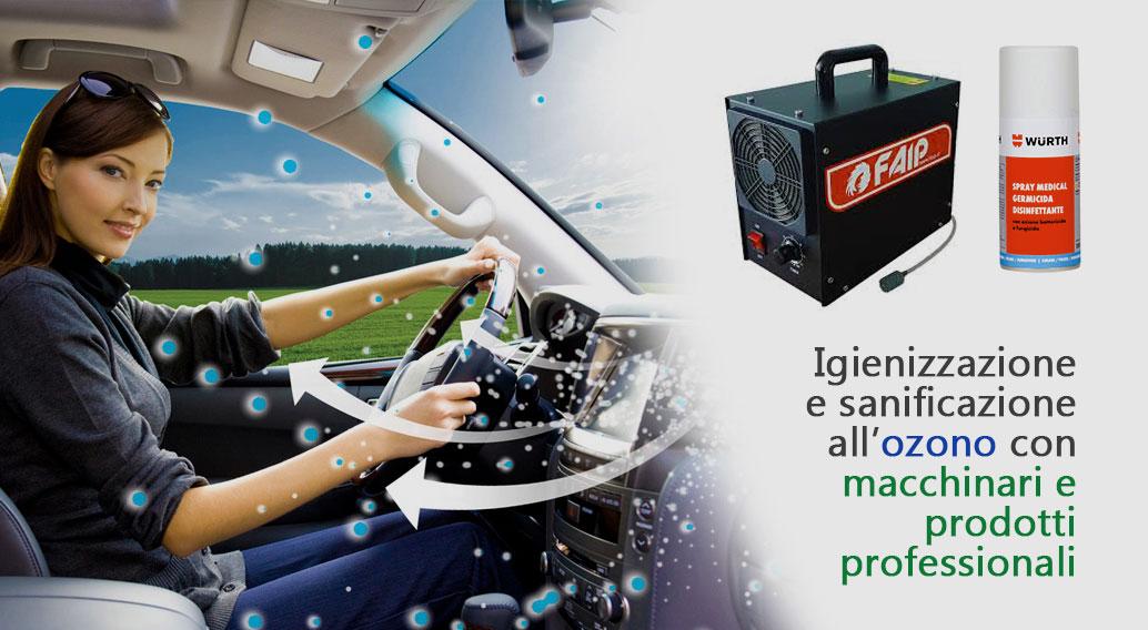 Igienizzazione interni auto con sanificazione all'ozono a Oggiono in provincia di Lecco